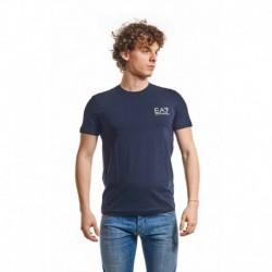 EA7 T-shirt Donkerblauw Heren