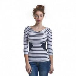 Guess T-shirt Zwart/Wit Dames
